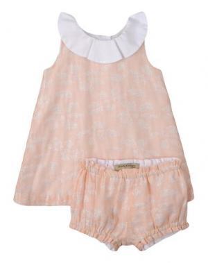 Платье HUCKLEBONES. Цвет: абрикосовый