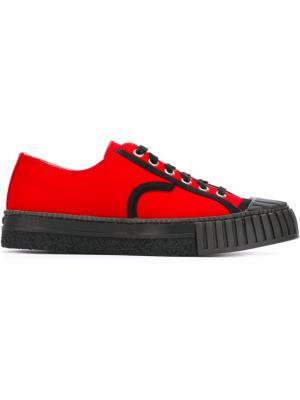 Ribbed toe cap sneakers Adieu Paris. Цвет: красный