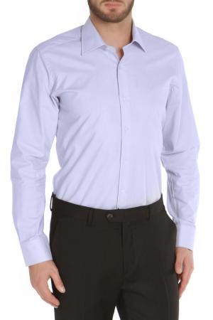 Полуприлегающая рубашка с застежкой на пуговицы The Savile Row. Цвет: сиреневый