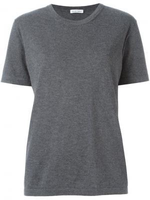 Трикотажная футболка Tomas Maier. Цвет: серый