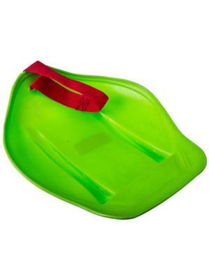 Санки-ледянки с ремнем-ручкой 25х33см, СЛ54534, арт.005 KONONO. Цвет: зеленый