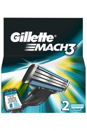 Кассеты GilletteMach3, 2 шт GILLETTE. Цвет: none