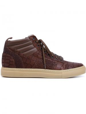 Chukka hi-top sneakers Del Toro Shoes. Цвет: коричневый
