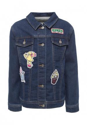 Куртка джинсовая Kenzo. Цвет: синий