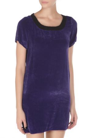 Свободное платье с короткими рукавами Costume National. Цвет: 737, синий