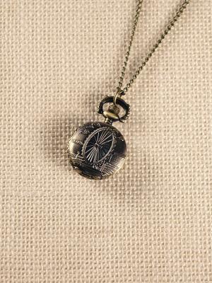 Кулон-часы Колесо обозрения Mitya Veselkov. Цвет: бронзовый