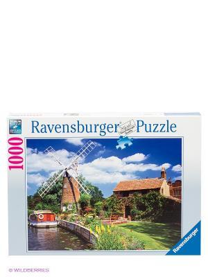 Пазл Ветряная мельница Ravensburger. Цвет: голубой