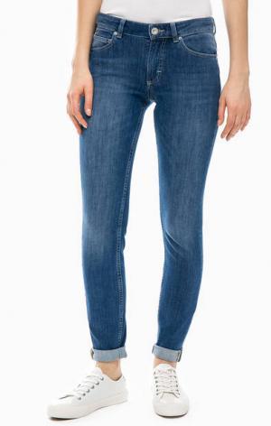 Зауженные джинсы с легкими заломами Marc O'Polo. Цвет: синий