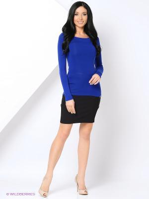 Блузка THEMACCA. Цвет: синий