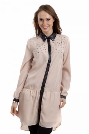 Рубашка с длинным рукавом Locust. Цвет: бежевый