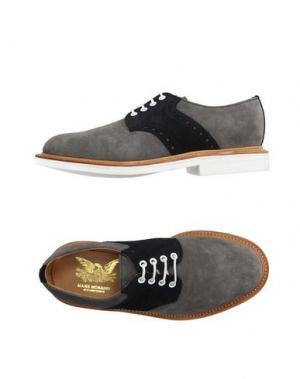 Обувь на шнурках MARK MCNAIRY. Цвет: свинцово-серый