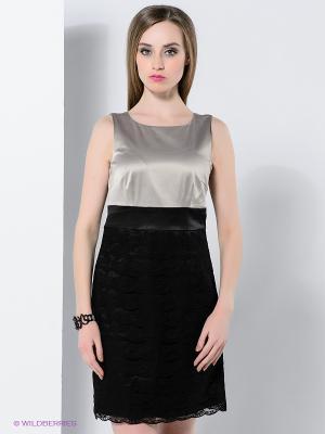 Платье Vila. Цвет: черный, серый
