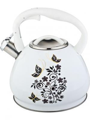 Чайник со свистком 3,0л. RAINSTAHL. Цвет: белый