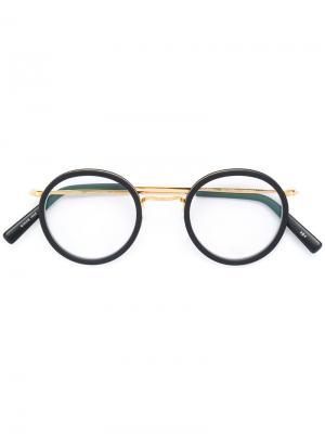 Round shaped glasses Masunaga. Цвет: чёрный