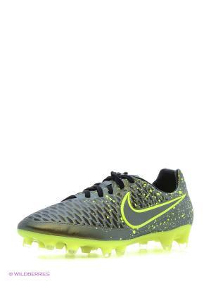 Бутсы MAGISTA ORDEN FG Nike. Цвет: салатовый, желтый
