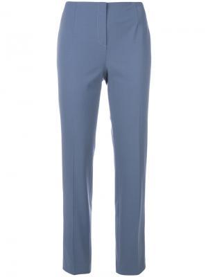Зауженные брюки Les Copains. Цвет: синий