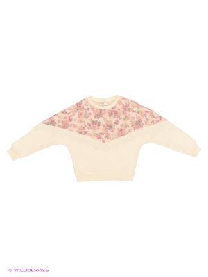 Блузка Qiaoya. Цвет: бежевый