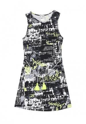 Платье 3 Pommes. Цвет: черно-белый