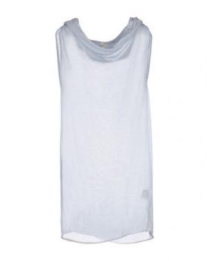 Платье длиной 3/4 TROU AUX BICHES. Цвет: светло-серый