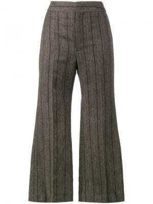 Укороченные расклешенные брюки Keroan Isabel Marant. Цвет: серый