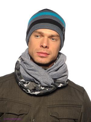 Шапка Viking caps&gloves. Цвет: серый, бирюзовый, черный