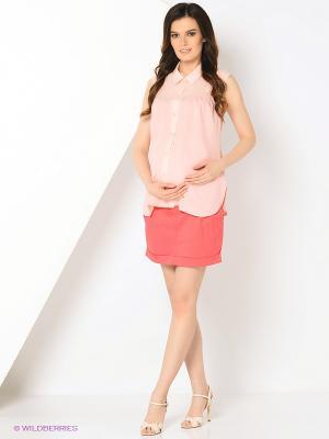 Блуза EUROMAMA. Цвет: розовый