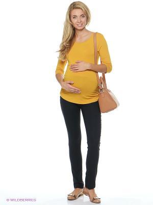 Джемпер для беременных и кормящих ФЭСТ. Цвет: горчичный