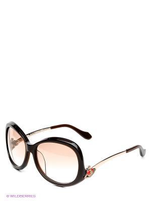 Солнцезащитные очки VW 726 05 Vivienne Westwood. Цвет: темно-коричневый, бежевый