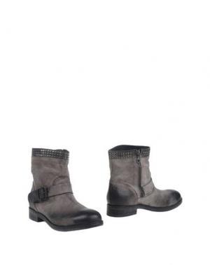 Полусапоги и высокие ботинки JUICE. Цвет: голубиный серый