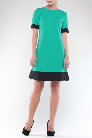 Платье REBECCA TATTI. Цвет: зелено-черный