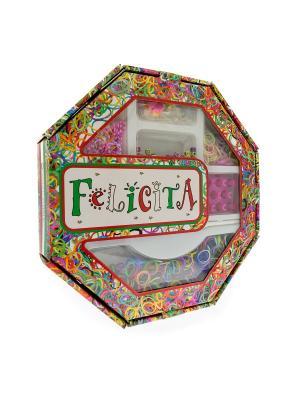 FELICITA. Развивающий набор для плетения браслетов из резиночек (4-2) АНДАНТЕ. Цвет: синий, зеленый, красный