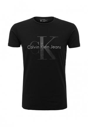 Футболка Calvin Klein Jeans. Цвет: черный