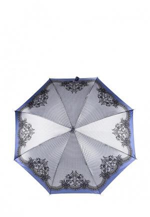 Зонт-трость Fabretti. Цвет: голубой