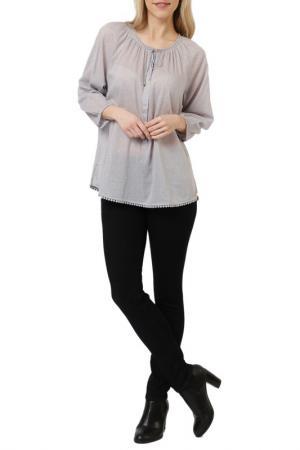 Блуза DTLM. Цвет: серый