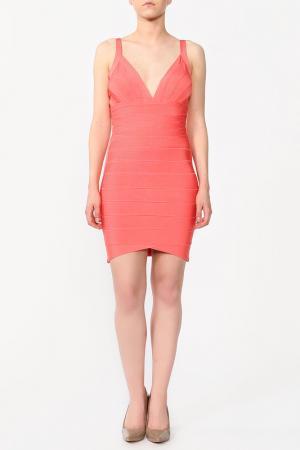 Платье Herve Leger. Цвет: мультицвет