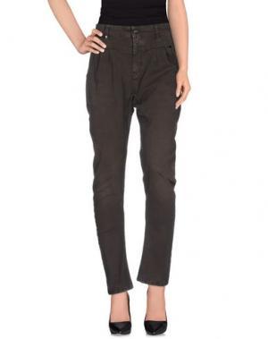 Повседневные брюки RA-RE. Цвет: темно-коричневый