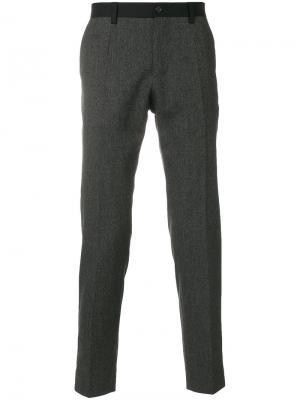 Классические брюки с контрастной окантовкой Dolce & Gabbana. Цвет: чёрный