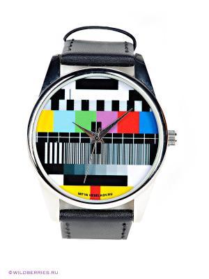 Часы ТВ-сетка Mitya Veselkov. Цвет: черный, желтый, красный