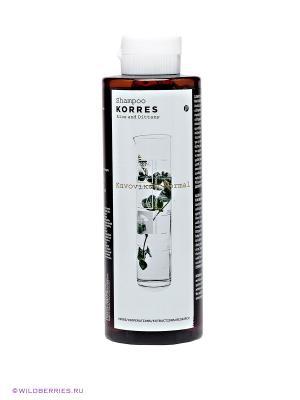 Шампунь для нормальных волос Korres. Цвет: коричневый