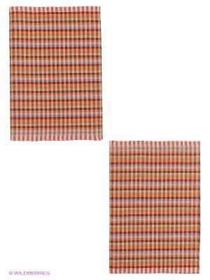 Набор полотенец лен Метиз. Цвет: коричневый, рыжий