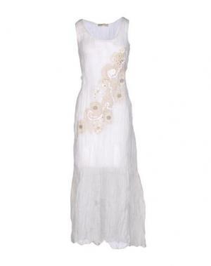 Длинное платье ANJUNA. Цвет: слоновая кость