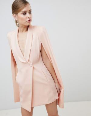 Lavish Alice Асимметричное короткое платье-кейп. Цвет: розовый