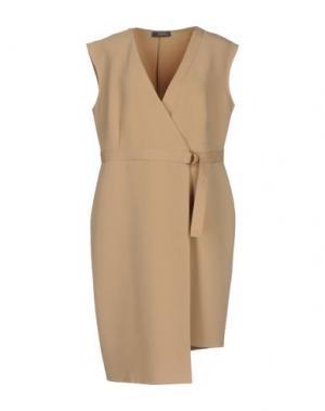 Короткое платье SOALLURE. Цвет: песочный