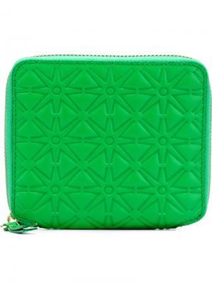 Кошелёк Colour Embossed Comme Des Garçons Wallet. Цвет: зелёный