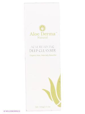 Гель для глубокого очищения кожи от акне Aloe Derma. Цвет: прозрачный