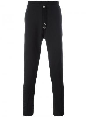 Спортивные брюки с пуговичной отделкой Alchemy. Цвет: чёрный