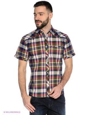 Рубашка Mavango. Цвет: зеленый, красный, синий
