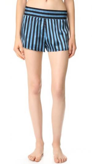 Пижамные шорты Peacock x Amanda Fatherazi Corey Morgan Lane. Цвет: голубой
