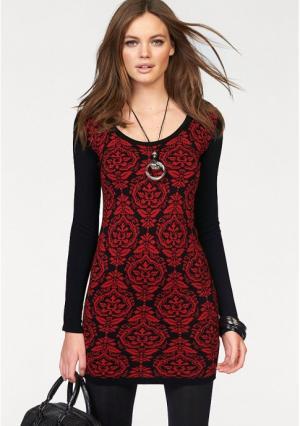 Платье MELROSE. Цвет: красный/черный
