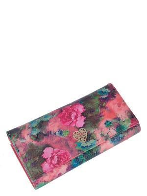 Кошелек Labbra. Цвет: синий,зеленый,коралловый,розовый